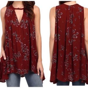 Free People Tree Swing floral tunic size small